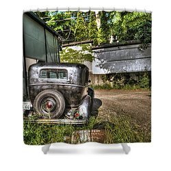 Antichrist Model T Shower Curtain