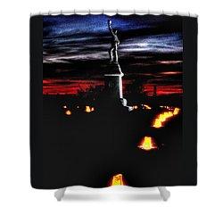 Antietam Memorial Illumination - 3rd Pennsylvania Volunteer Infantry Sunset Shower Curtain by Michael Mazaika