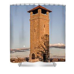 Antietam's Stone Tower Shower Curtain