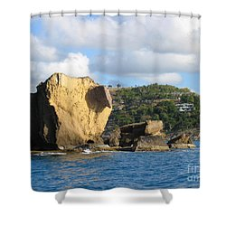 Antigua - Aliens Shower Curtain by HEVi FineArt