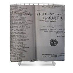Antiqiue Shakespeare Macbeth Shower Curtain by Dotti Hannum
