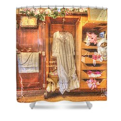 Antique Armoire Shower Curtain by Liane Wright