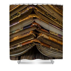 Antique Books Shower Curtain by Garry Gay