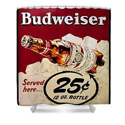 Antique Budweiser Signage Shower Curtain