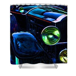 Antique Rolls Royce Car Abstract Shower Curtain