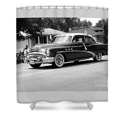 Antique Car Parade Shower Curtain