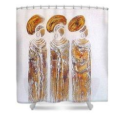 Antique Copper Zulu Ladies - Original Artwork Shower Curtain