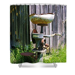 Shower Curtain featuring the photograph Antique Cream Separator by Sherman Perry