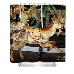 Antique Dentzel Menagerie Carousel Goat Shower Curtain