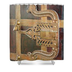 Shower Curtain featuring the photograph Antique Door Handle by Mini Arora
