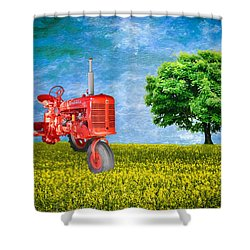 Antique Farmall Tractor Shower Curtain