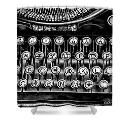 Antique Keyboard - Bw Shower Curtain by Christopher Holmes