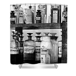 Antique Pharmacy Shower Curtain by Phyllis Denton