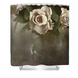 Shower Curtain featuring the photograph Antique Roses by Annie Snel