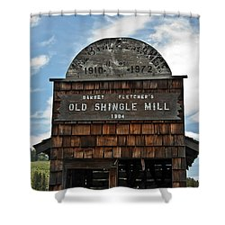 Antique Shingle Mill Shower Curtain
