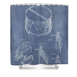 Antique Snare Drum Patent Shower Curtain by Dan Sproul