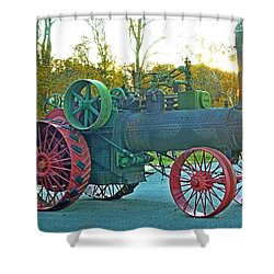 Antique Steam Tractor Shower Curtain