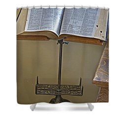 Antique Still Life Reading Stand Shower Curtain