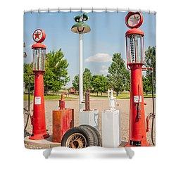 Antique Texaco Pumps Shower Curtain