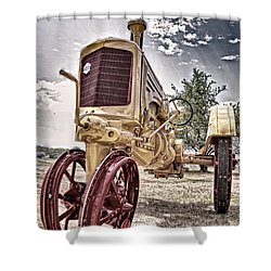 Antique Tractor Shower Curtain by Tamyra Ayles
