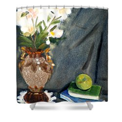 Antique Vase And Flower Shower Curtain