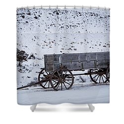 Antique Wagon Shower Curtain