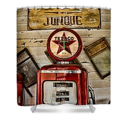 Antiques And Junque Shower Curtain by Heather Applegate