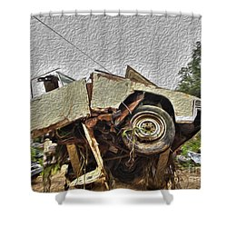 Antiques Broken Shower Curtain