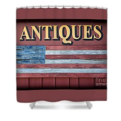 Antiques Shower Curtain by Colleen Kammerer