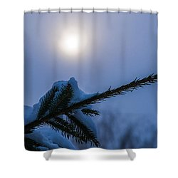 Antisipation Of New Year Shower Curtain by Alexander Senin