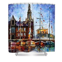 Antwerp - Belgium Shower Curtain by Leonid Afremov