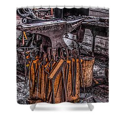Anvil Shower Curtain by Ray Congrove