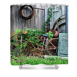 Any Old Iron Shower Curtain by Richard Reeve