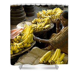Shower Curtain featuring the photograph Anyone For Bananas? by Mini Arora