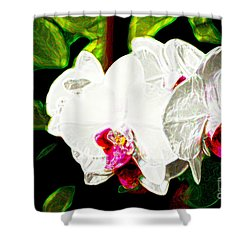 Aos White Orchid 2 Shower Curtain