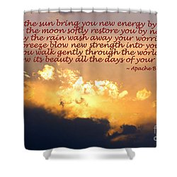 Apache Blessing  Shower Curtain