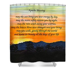 Apache Blessing-sunrise Shower Curtain