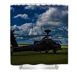 Apache Gun Ship Shower Curtain
