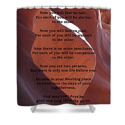 Apache Wedding Blessing On Canyon Photo Shower Curtain