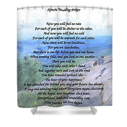 Apache Wedding Prayer Shower Curtain