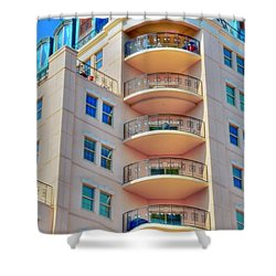 Apartment Building Shower Curtain by Kathleen Struckle