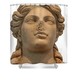 Aphrodite The Goddess Of Love And Beauty  Shower Curtain by Tracey Harrington-Simpson