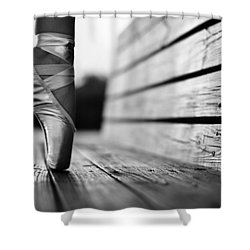 Aplomb Shower Curtain by Laura Fasulo