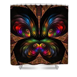 Apo Butterfly Shower Curtain by GJ Blackman