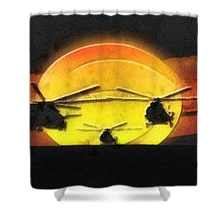 Apocalypse Now Shower Curtain by Mo T