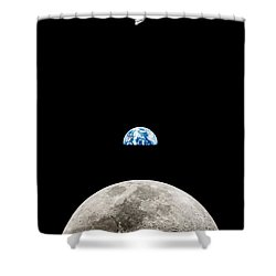Apollo 11 First Man On The Moon Shower Curtain