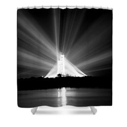 Shower Curtain featuring the photograph Apollo 11 In The Spotlight by Travis Burgess