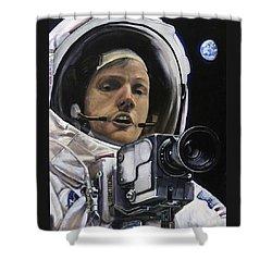 Apollo- For Mankind Shower Curtain by Simon Kregar