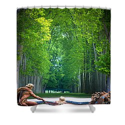 Apollo Fountain Shower Curtain by Inge Johnsson