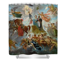Apotheosis Of Napoleon IIi Shower Curtain by Guillaume-Alphonse Harang Cabasson